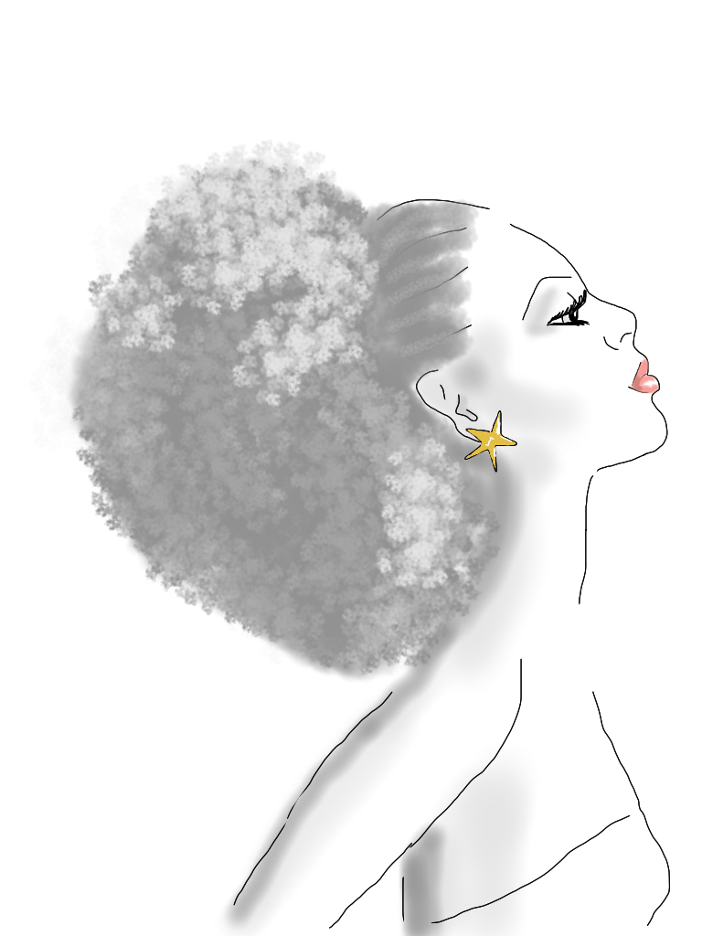 Afro Woman Drawing Published January 22 2012 at