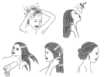 styling hair, instructional
