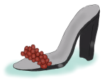 shoe with berries