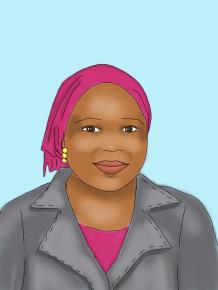 Hawa Salih, illustration by Kim Dolan