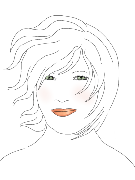 line drawing, christal, by kim dolan