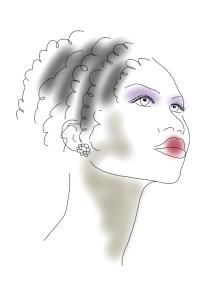 simple portrait, curls, by kim dolan