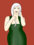 dark green dress 8x8 canvas