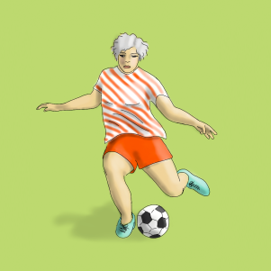 Soccer Player - 8x8 canvas - ordered