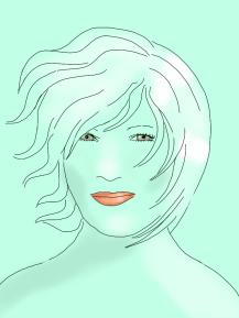 windy hair in green