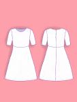 Fashion flat princess line