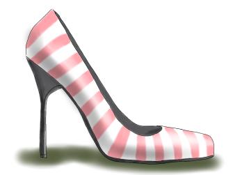 pinked striped shoe