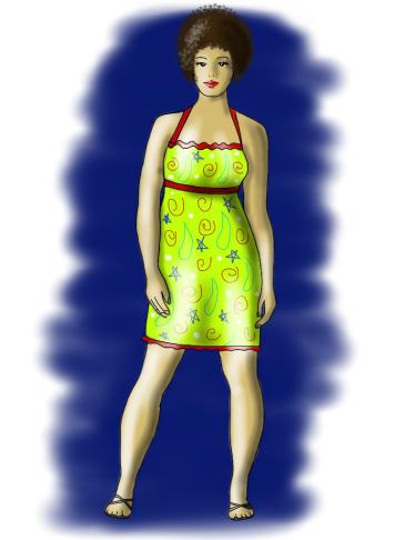 green dress empire waist