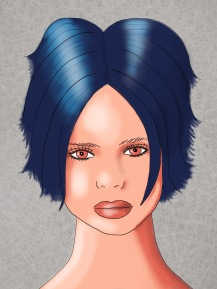 dark blue short hair